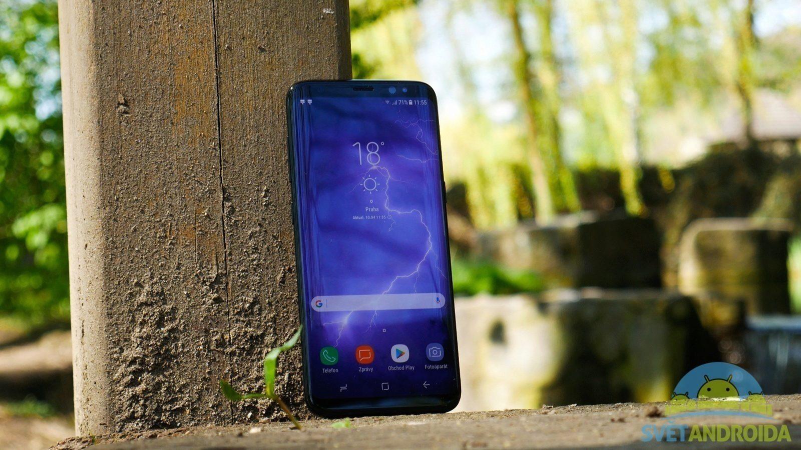 Samsung Galaxy S8 recenze konstrukce přední strana