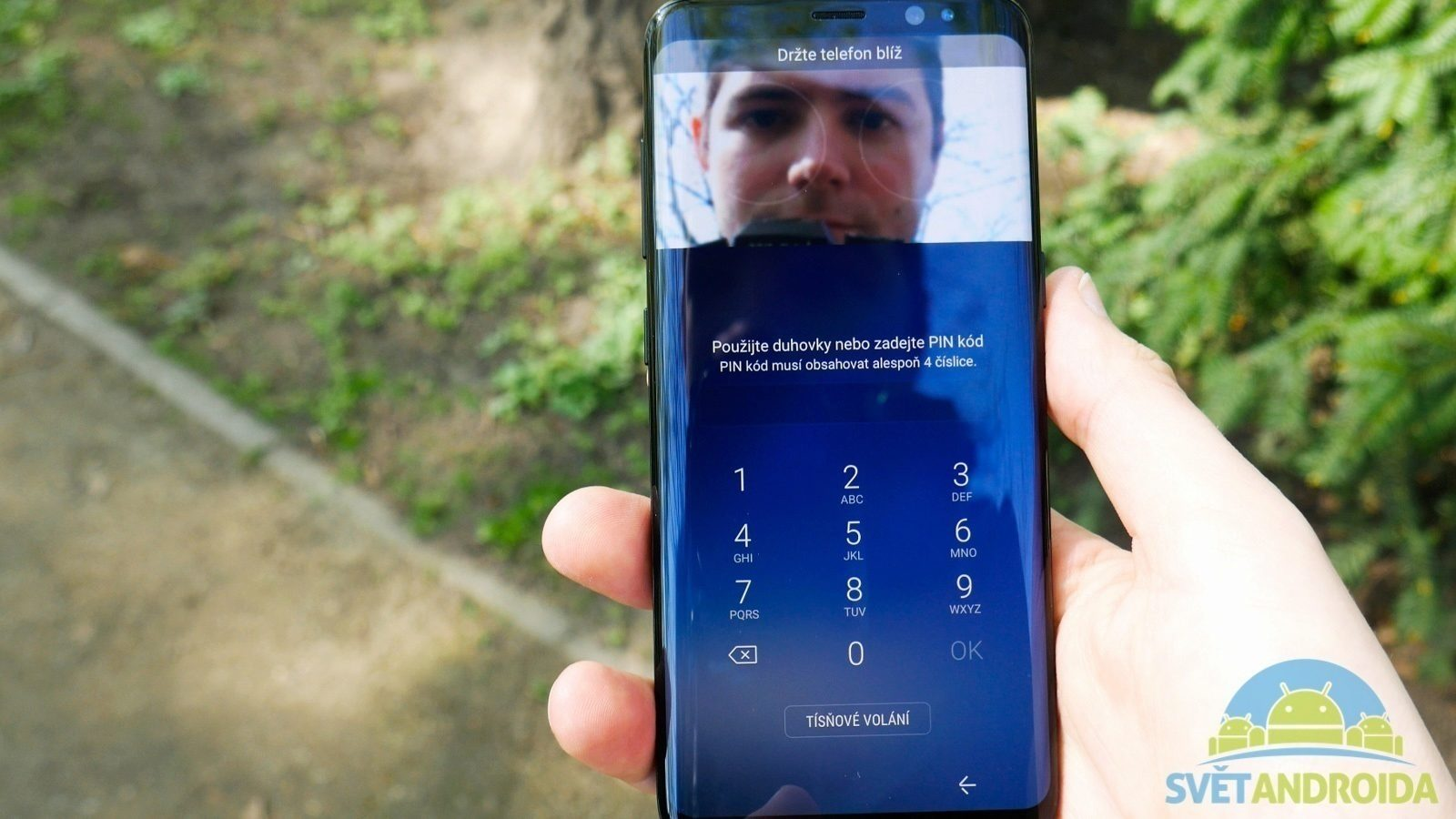Samsung Galaxy S8 recenze skener duhovky
