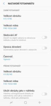 Samsung S8 recenze fotoaparat aplikace