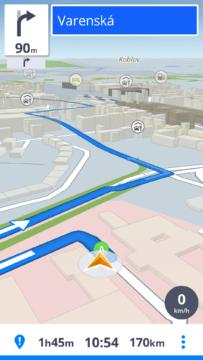 Aplikace Sygic se chlubí moderním uživatelským rozhraním