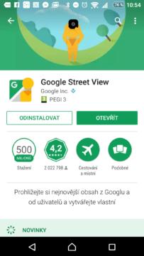 Aktualizace aplikace Street View si Google zajišťuje sám