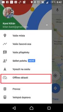 Sekce Offline oblasti