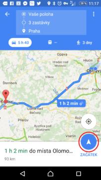 Spuštění navigace po trase