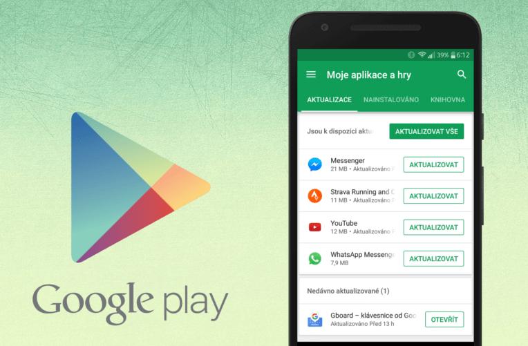 aktualizace google play