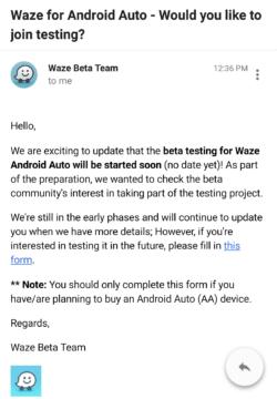 Pozvánka na testování navigace Waze pro Android Auto