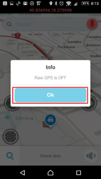 Raw GPS is OFF