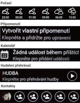 HTC U Ultra sekundární displej