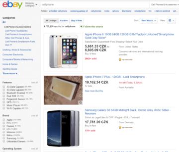 eBay je oblíbenou prodejní platformou čínských obchodníků