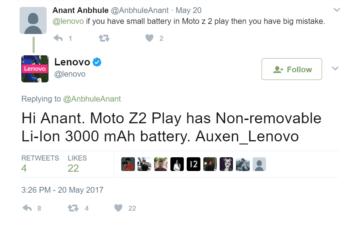moto z2 play baterie