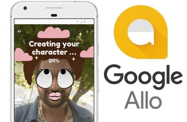Google Allo selfie fotky