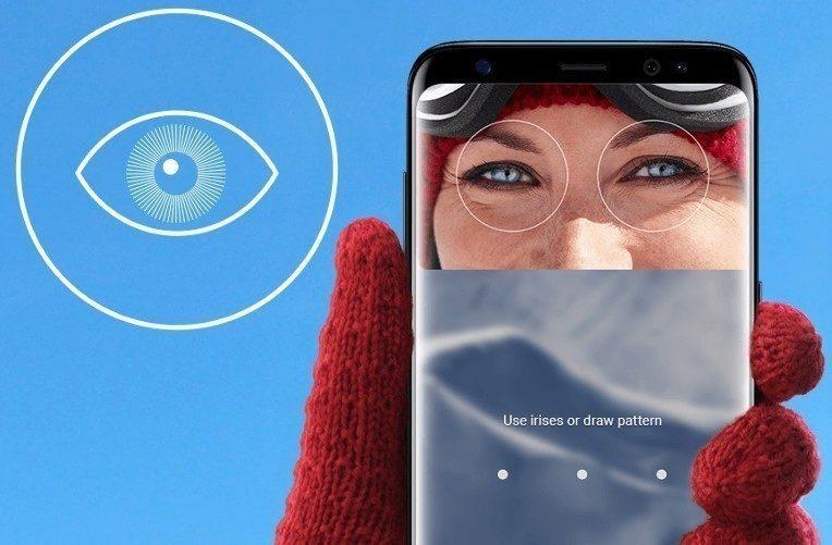 snímač oční duhovky