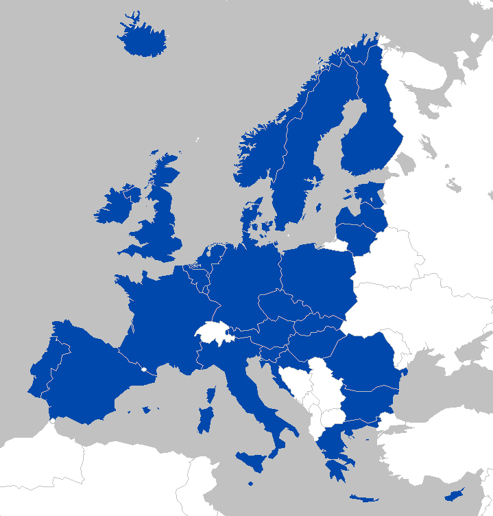 mapa roaming EU