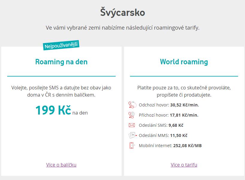 Vodafone původní ceny