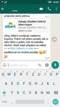 whatsapp podvodny kupon