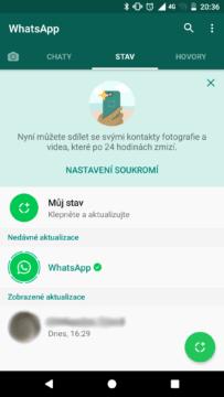whatsapp stav