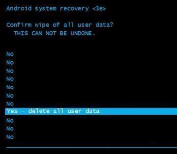 yes - delete all user data