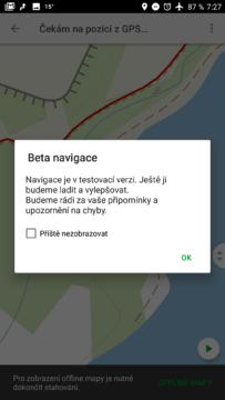 Navigace je v beta verzi