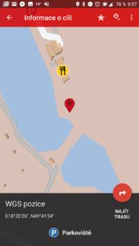 Navigace na keš z c:geo