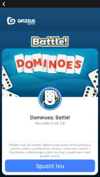 facebook messenger skryte funkce dominoes