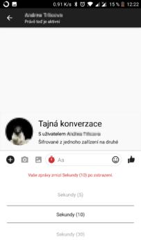 facebook messenger skryte funkce sifrovana konverzace