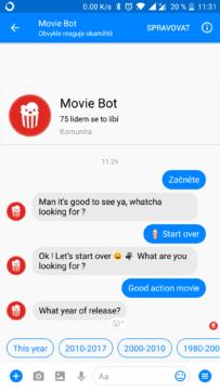 facebook messenger skryte funkce boti