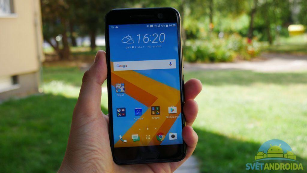 HTC 10 - konstrukce, držení telefonu