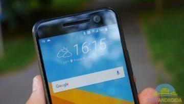 HTC 10 – konstrukce, horní strana