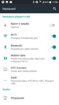 HTC 10 – ukázka systému s rozhraním Sense 6