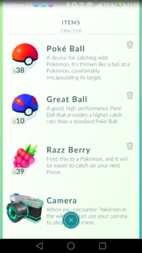 Kompletní návod Pokémon Go - Razz Berry a Great Ball