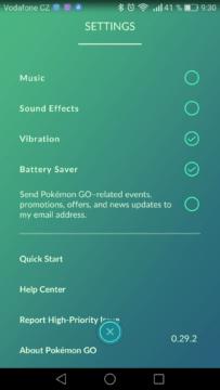 Kompletní návod Pokémon Go - nastavení