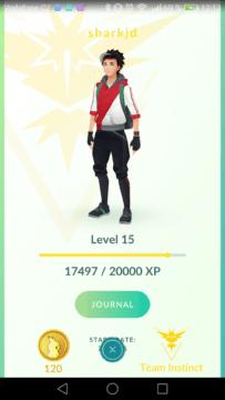 Kompletní návod Pokémon Go - profil hráče