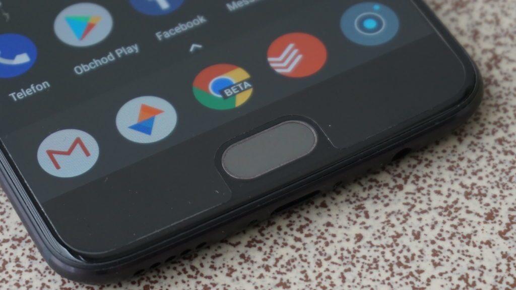 OnePlus 5 ctecka otisku prstu