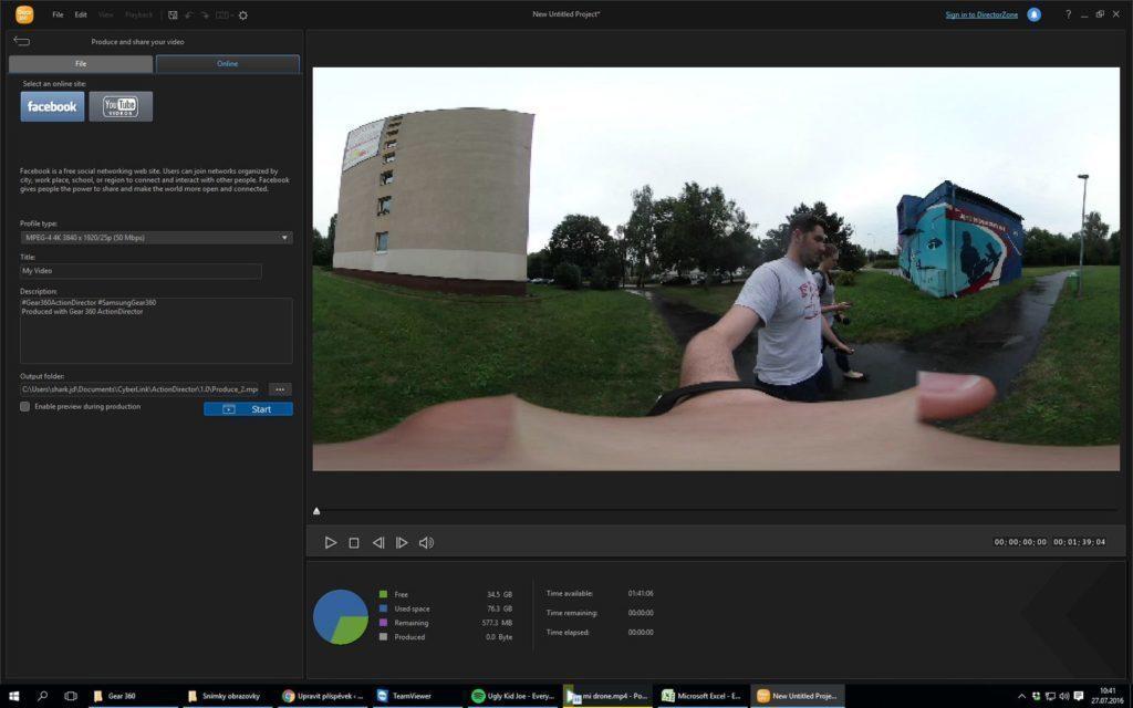 Samsung Gear 360 - aplikace pro PC 2