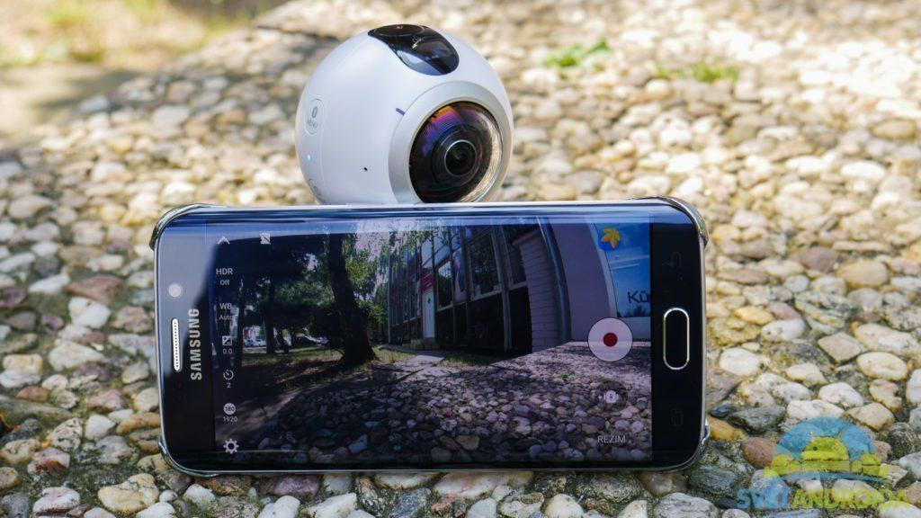 Samsung Gear 360-kamera a telefon