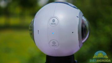 Samsung Gear 360-konstrukce, tlačítka