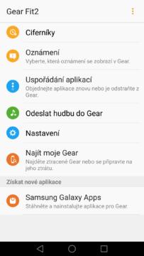 Samsung Gear Fit 2 – aplikace Gear 2