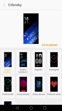 Samsung Gear Fit 2 – aplikace Gear 3