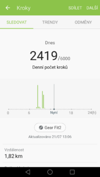 Samsung Gear Fit 2 – aplikace S Health (2)
