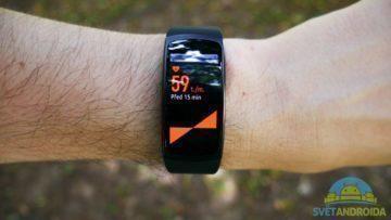 Samsung Gear Fit 2 – displej, aplikace 6