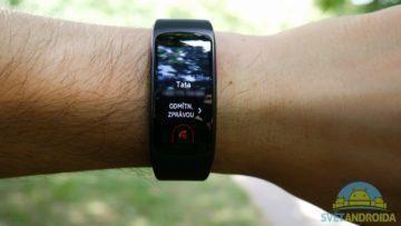 Samsung Gear Fit 2 – displej, notifikace