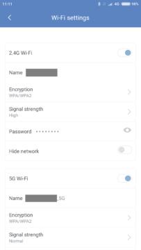 Xiaomi Mi R1D app nastaveni site