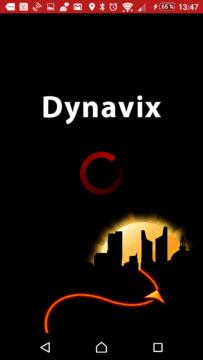 Úvodní obrazovka Dynavix