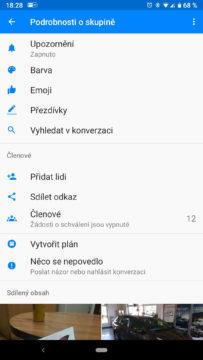 facebook messenger skryte funkce konverzace