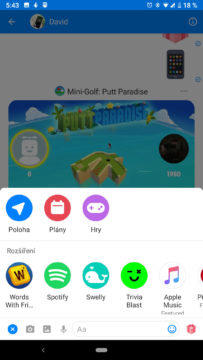 facebook messenger skryte funkce sdileni polohy