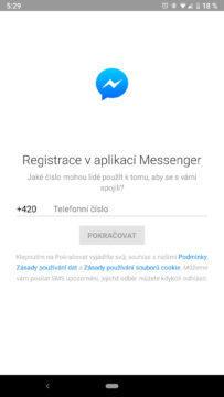facebook messenger skryte funkce telefon