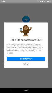 facebook messenger skryte funkce ucet