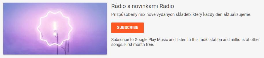 google play music novinky