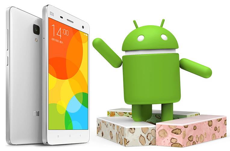 xiaomi telefony android 7 nougat