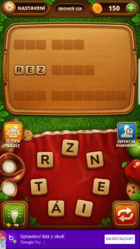 128. úroveň hry Piknik slovo
