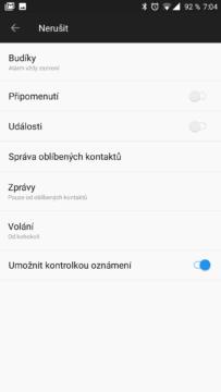 Nastavení režimu Nerušit OxygenOS OnePlus 5
